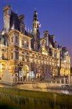 Ornate Hotel at Twilight