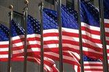 US Flags in Rockefeller Plaza, New York