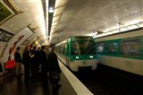 Commuters Inside Metro Station, Paris, France