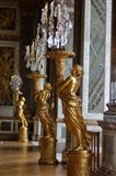 Hall of Mirrors and Gold Statues, Versailles, France