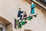 Wrought Iron Sign, Hautvillers, France