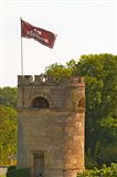 Tower in Vineyard at Chateau Cos d'Estournel, France