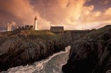 Pointe De St Mathieu Lighthouse at Dawn, Brittany, France