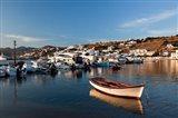 Boats in harbor, Chora, Mykonos, Greece