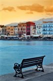 Chania at dusk, Chania, Crete, Greece
