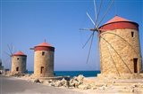 Old Windmills of Rhodes, Greece