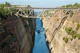 Greece, Corinth Boat in Corinth Canal