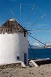 Greece, Cyclades, Mykonos, Hora Historic Cycladic style Windmill