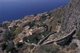 View from Upper to Lower Village, Monemvasia, Greece