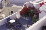 Patio of Hotel Between Fira and Imerovigli, Greece