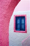 Colorful Pink Building, Imerovigli, Santorini, Greece