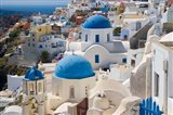 Blue Domed Churches, Oia, Santorini, Greece