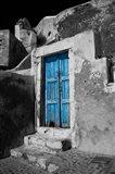Colorful Blue Door, Oia, Santorini, Greece