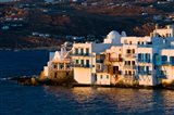 Shoreline of Little Venice, Hora, Mykonos, Greece