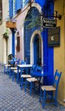 Colorful Blue Doorway, Chania, Crete, Greece
