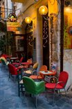 Outdoor Cafe Seating, Chania, Crete, Greece