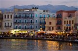Evening Light along the Old Harbor, Chania, Crete, Greece