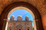 Greece, Crete, Archway into Monastery near Chania