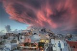 Sunset over Oia, Santorini, Greece