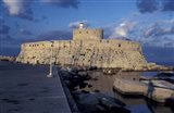 Fort St Nicholas and Mandraki Harbor, Rhodes, Greece