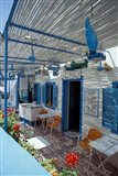 Breakfast Bar with Bird Cages, Thira, Cyclades Islands, Greece