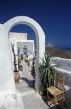 Chora Houses, Blue Aegean Sea, and Agave Tree, Cyclades Islands, Greece