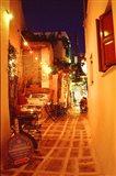 Ios, Greece Restaurant setting on the Greek isle
