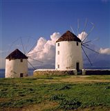 Greece, Mykonos White-washed Windmills