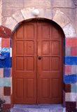 Old Brown Wooden Door, Rhodes, Dodecanese Islands, Greece