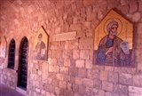 Wall Mosaics in the Cloister, Filerimos Monastery, Rhodes, Dodecanese Islands, Greece