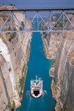 View of Corinth Canal, Corinthia, Corinth, Peloponnese, Greece