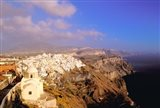 Late Afternoon View of Town, Thira, Santorini, Cyclades Islands, Greece