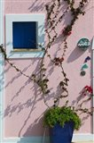 Detail of Pastel Condo, Assos, Kefalonia, Ionian Islands, Greece