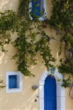 Detail of Pastel Colored Condo, Assos, Kefalonia, Ionian Islands, Greece