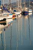 Sailboat Reflections, Southern Harbor, Lesvos, Mithymna, Northeastern Aegean Islands, Greece
