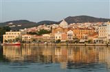Waterfront View of Southern Harbor, Lesvos, Mithymna, Northeastern Aegean Islands, Greece