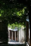 Shaded Shopping Street, Lesvos, Mithymna, Northeastern Aegean Islands, Greece