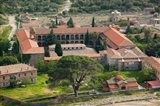 Overview of Limonos Monastery, Filia, Lesvos, Mithymna, Aegean Islands, Greece