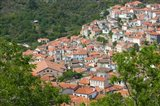 Hillside Town View, Agiasos, Lesvos, Mytilini, Aegean Islands, Greece