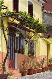 Yellow House, Agiasos, Lesvos, Mytilini, Aegean Islands, Greece