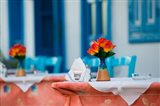 Cafe Table, Kokkari, Samos, Aegean Islands, Greece