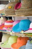 Hats for Sale, Kokkari, Samos, Aegean Islands, Greece