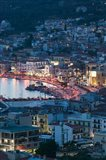 Town View with Vathy Bay, Vathy, Samos, Aegean Islands, Greece