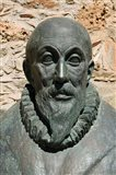 Greece, Crete, Iraklio, Fodele, El Greco statue