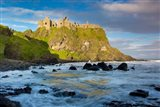 Sunrise Over Dunluce Castle Along Northern Coast Of County Antrim, Northern Ireland