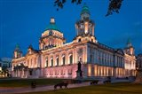 Twilight Over Belfast City Hall Building, Belfast, Northern Ireland
