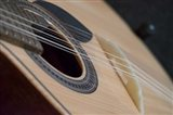 Portugal, Coimbra Fado Musician's Portuguese Guitar Head, Sound Box, Pegs And Strings