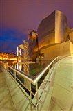 Guggenheim Museum lit at night, Bilbao, Spain