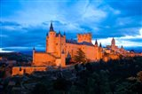 Spain, Segovia Alcazar Castle at Sunset