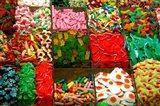 Spain, Barcelona, La Rambla, market candy